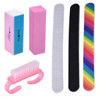 Nail File Buffer Shiner Finger Toe Manicure Pedicure Polishing Nail Clean Brush