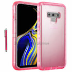 For Samsung Galaxy Note 9 Clear Case Shockproof Belt Clip Cover+Screen protector