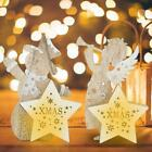 Wooden Lovely LED Light Christmas Tree Ornament Supplies Home Table Decor Lamp