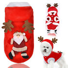 Pet Dog Warm Clothes Puppy Funny Costume For Christmas Oufit Dress Up XS-XXL