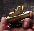 "High Quality ""squeeze action"" Lighter Vintage Rare Unusual Rare Lighters Brass"
