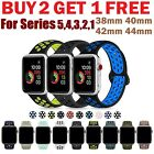 Silicone Sport Replacement Band 38mm 42mm For Nike+ Apple Watch Series 4 3 2 1 image