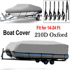 Heavy Duty 14ft-24ft Trailerable Boat Cover Waterproof Pontoon / V-Hull Ski Bass