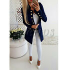 UK Womens Buttons Open Front Military Blazer Coat Ladies Office Jacket Outwear <br/> =UK SAME DAY DISPATCH=UK NEXT DAY DELIVERY AVAILABLE=