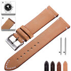 Genuine Leather Watch Band 18 20 22mm Wrist Strap For Timex Quick Release Pins image
