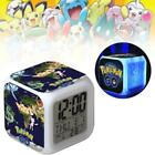 Pokemon Go! Anime Related Product Pikachu LED 7 Color Bedlight Alarm Clock FT