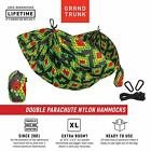 Grand Trunk Print Nylon Hammock - Camping Double, Tree Hanging Kit Included