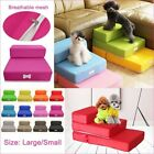 Large/Small Pet Two Layers Dog Ladder Folding Stair Bed Sofa Washable  Cushion