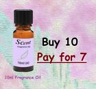 10ml Fragrance Oils- Buy 7, Get 3 Free For Candles, Diffusers, Oil Burners, Etc.