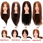 "20"" Real Human Hair Hairdressing Practice Training Head Cosmetology Mannequin"