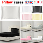 100% COTTON 1X PAIR PILLOW CASES PACK LUXURY CASE HOUSEWIFE BEDROOM PILLOW COVER