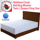 Mattress Cover Protector Waterproof Bed Bug Blocker Encasement Zippered ALL SIZE image