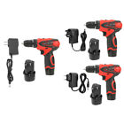 12V Dual Speed Battery Powered Cordless Power Drill Rechargeable Screwdriver LJ
