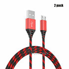 2-Pack Micro USB Charger Fast Charging Cable Cord For Samsung S6 S7 edge J5 J7