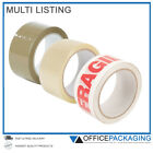 STICKY PACKING TAPE STRONG - BROWN / CLEAR / FRAGILE 48mm x 66M PARCEL TAPE