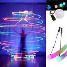 LED Multi Colored Glow POI Thrown Balls Light Up For Belly Dance Hand Props BG