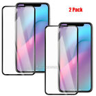 2 Pack 9H Hardness Full Coverage Premium Real Tempered Glass Screen Protector