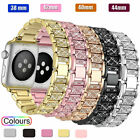 US For Apple Watch Series 4 3 2 5 38/42MM women Bling Bracelet iWatch Band Strap image