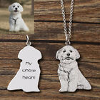 Memorial Gift - Personalized Engrave Pet/Dog/Cat Photo with name on Necklace