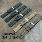 WHOLESALE 5pcs Aviator Pilot Ridged Leather Watch Strap Band Size 20mm #W-55 image