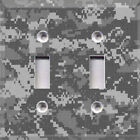 Black Digital Camouflage Themed Light Switch Cover Choose Your Cover