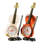 Modern Retro Violin Desk Clock Alarm Clock Stand Clock Home Room Bedroom Decor