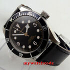 41mm corgeut black dial Sapphire Glass miyota 8215 automatic diving mens watch image