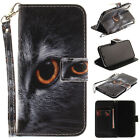Half-cat Magnetic Flip Wallet Card Slot Leather Stand Case Cover Skin For Iphone