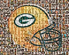 Green Bay Packers Mosaic Print Art Using Over 100 of the Greatest players $42.0 USD on eBay