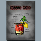 DRINKS AND COCKTAILS Metal Poster Wall Art  BLOODY MARY