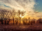 Dusty Country Sunset - Landscape Photograph Outdoor Nature Wall Art Poster