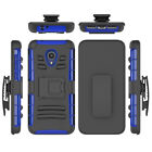 For Alcatel 1X Evolve Case Three Layer Shockproof Kickstand Belt Clip Cover