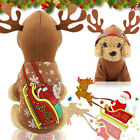Christmas Dog Hoodie Pet Winter Warm Clothes Cat Puppy Hooded Sweater Clothing