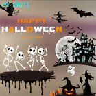 Halloween Window Glass Sticker PVC Wall Decal Party Shop Scary Decor 3550cm
