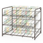 Stackable Can Rack Organizer 3-Tier Holds 36 Can Soda Cabinet Storage Food Drink