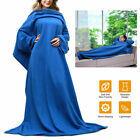 Wearable Fleece Blanket With Sleeves Cozy Warm Snuggie Robe Wrap for Sofa Couch image