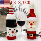 US Christmas Santa Snowman Red Wine Bottle Cover Bags Home Tableware Party Decor