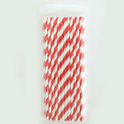 US 100~200 Bulk Packed Paper Straws Pattern Color -Biodegradable FDA Approved