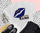 Nfl Los Angeles Rams Women's T-Shirt V-Neck Top Tee Grey Gildan Handmade New $23.99 USD on eBay