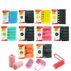 soft foam cushion hair rollers curlers hair care styling 5 sizes 5 colors black