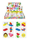 12x Kids Childrens Boys Girls Temporary Tattoos Transfers Party Loot Bag Fillers
