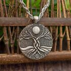 1 Pc Men Women Old English Moon Ritual tree of life necklace