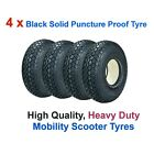 4 x Black 4.00-5 or 330 x 100 Solid Puncture Proof Mobility Scooter Tyre