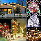 Led Copper String Fairy Lights Battery Wire Xmas Reindeer Tree Party Decoration