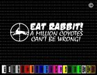 Eat Rabbit Hunting Car Sticker Window Vinyl Decal Redneck Fishing Fish Buck