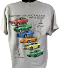 Chevy Camaro T-Shirt w/ Six Generations of Cars & Emblems - Light Gray image