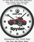 2016-2020 CANAM SPYDER WALL CLOCK-ALL MODELS & COLORS AVAILABLE-CAN AM