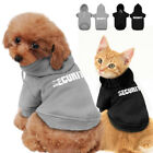 SECURITY Dog Coat Jacket Hoodie Clothes Apparel Small Medium for Pet Cat Puppy