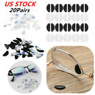 40PCS Silicone Anti-Slip Nose Pads Grips Stick On Gaskets for Glasses Eyeglasses