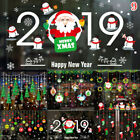 Christmas Vinyl Window Wall Stickers Decal Snowman Removable Home Room Decor